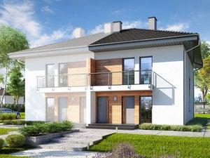 Projekty Domów Dwurodzinnych Jednorodzinne Dwulokalowe Strona 2